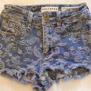 Bullhead Denim Co. | High Rise Cut Off Jean Shorts